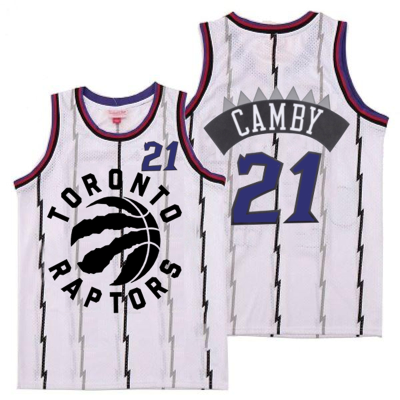 Raptors 21 Marcus Camby White Retro Jersey