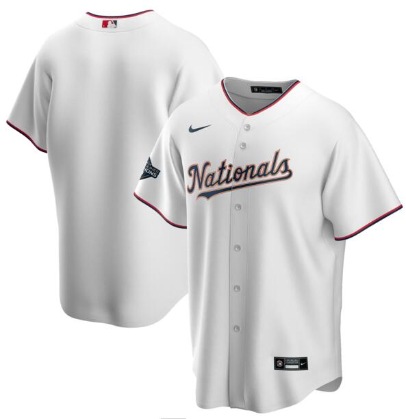 Nationals Blank White Gold Youth Nike 2020 Gold Program Cool Base Jersey
