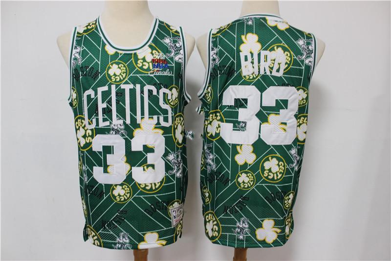 Celtics 33 Larry Bird Green Tear Up Pack Hardwood Classics Swingman Jersey