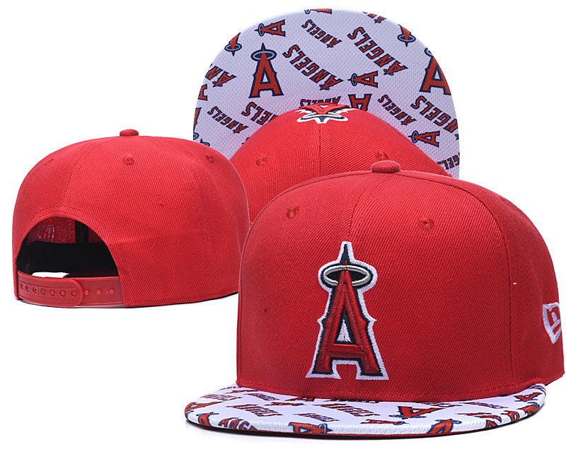 Angels Team Logo Red White Adjustable Hat TX