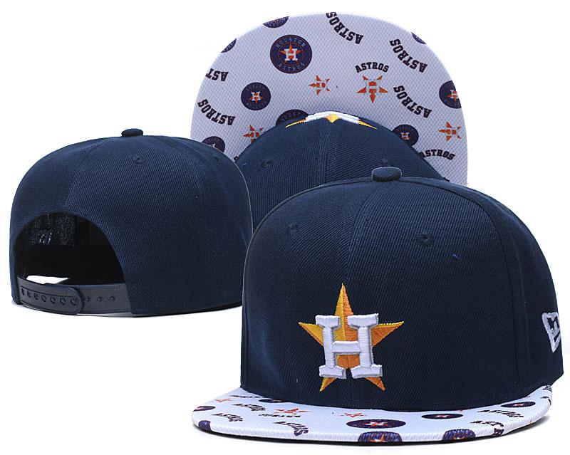 Astros Team Logo Navy White Adjustable Hat TX