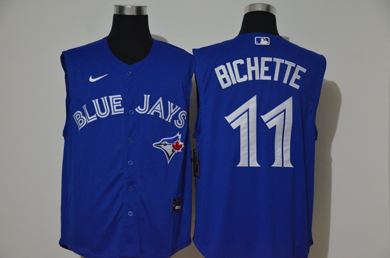 Blue Jays 11 Bo Bichette Royal Nike Cool Base Sleeveless Jersey