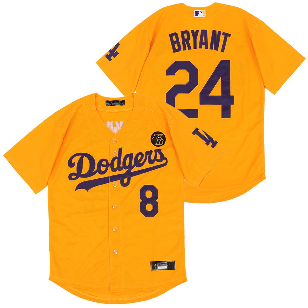 Dodgers 24 Kobe Bryant Yellow 2020 Nike KB Cool Base Jerseys
