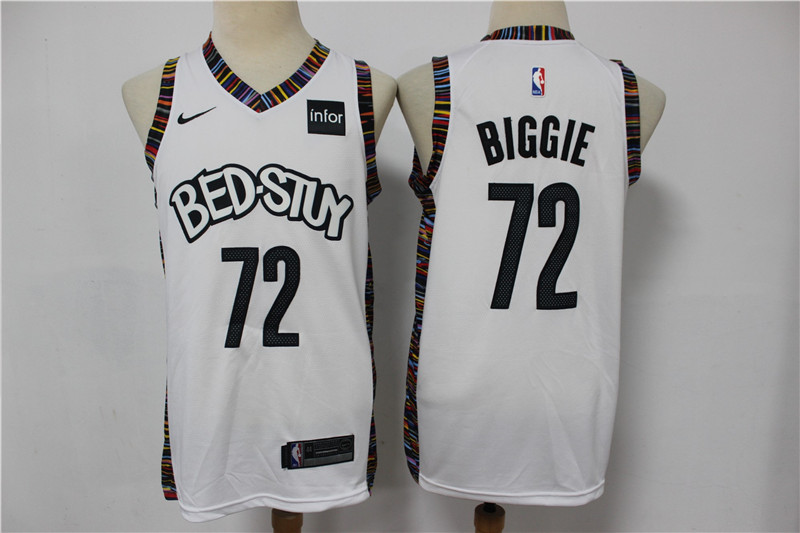 Nets 72 Biggie White 2020 City Edition Nike Swingman Jersey