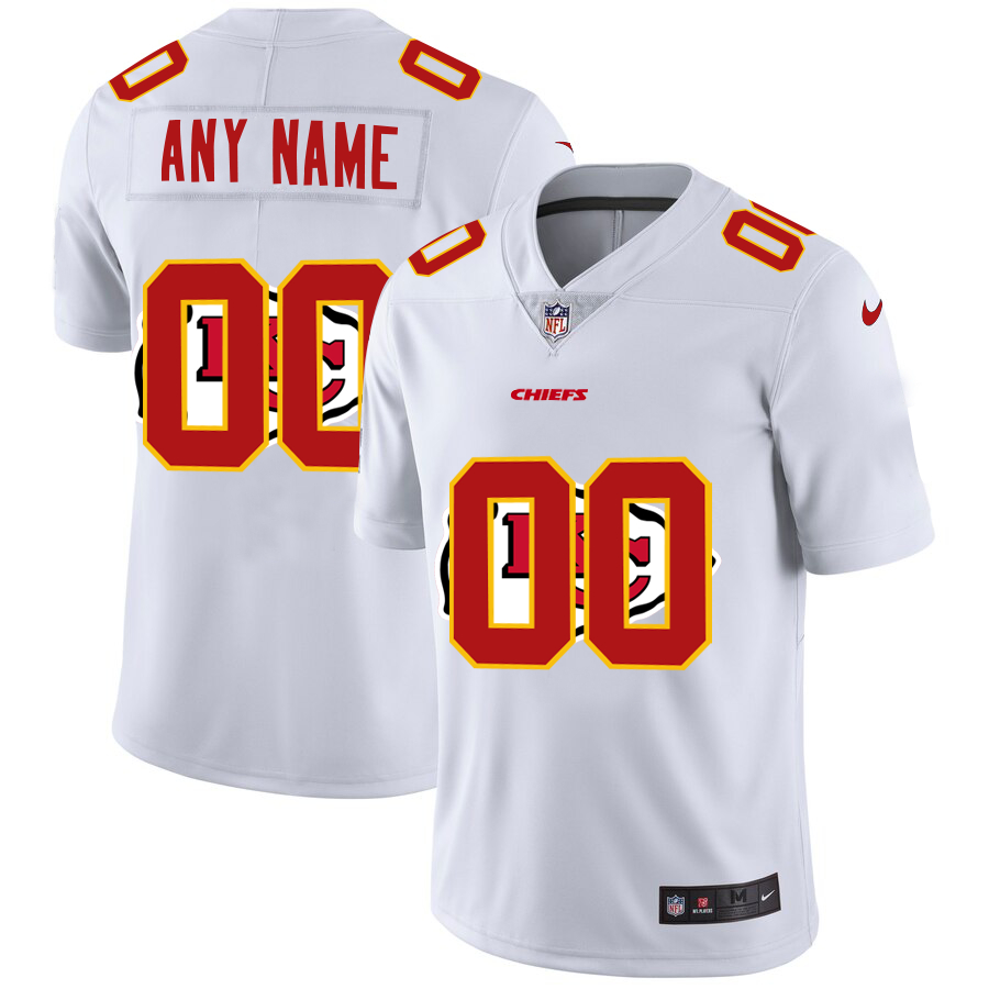 Nike Chiefs Customized White Team Big Logo Vapor Untouchable Limited Jersey