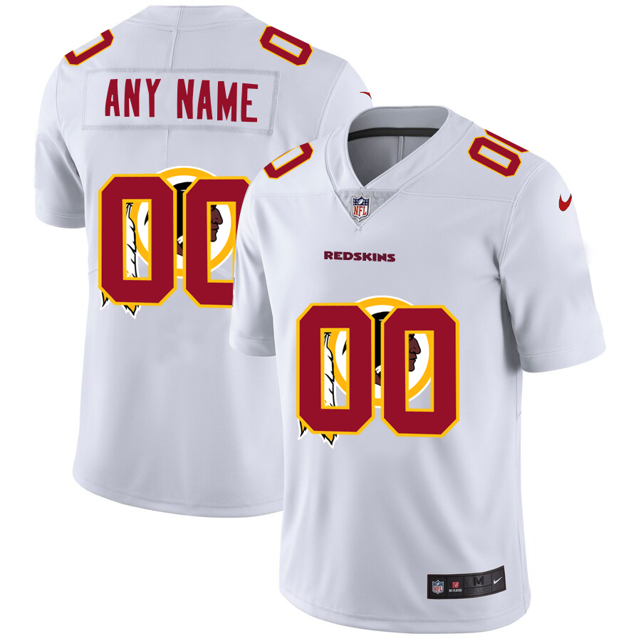 Nike Redskins Customized White Team Big Logo Vapor Untouchable Limited Jersey