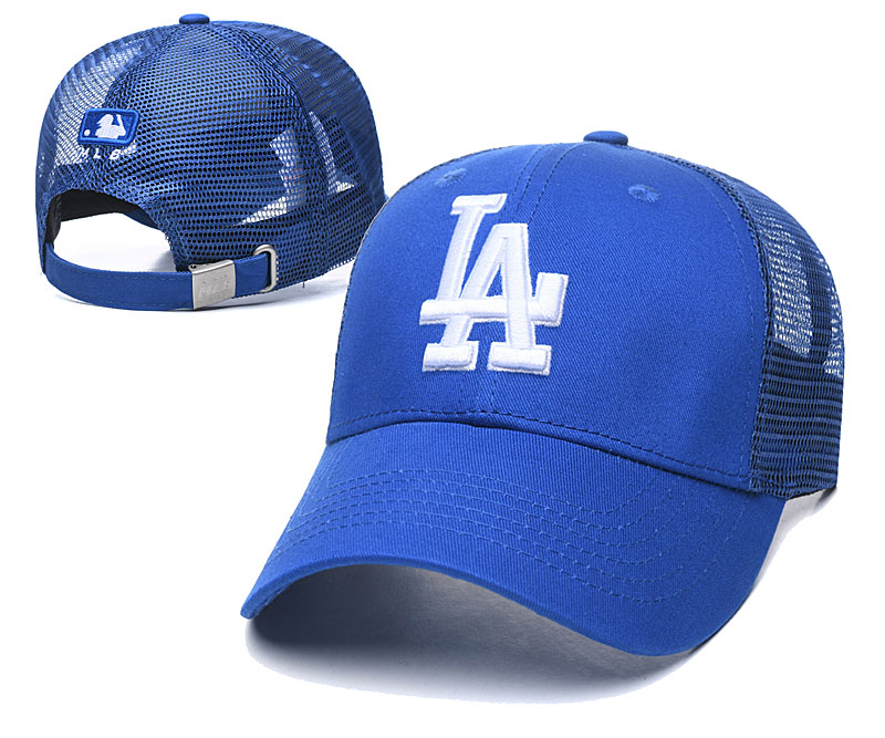 Dodgers Team Logo Blue Peaked Adjustable Hat TX