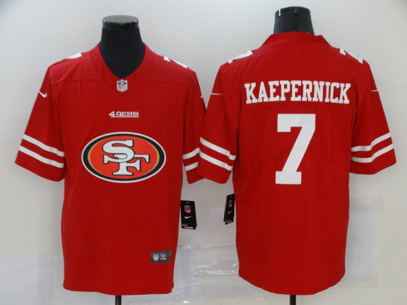 Nike 49ers 7 Colin Kaepernick Red Team Big Logo Vapor Untouchable Limited Jersey