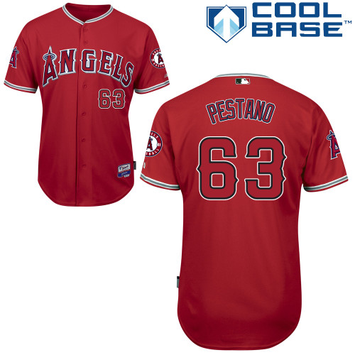 Angels 63 Pestano Red Cool Base Jerseys