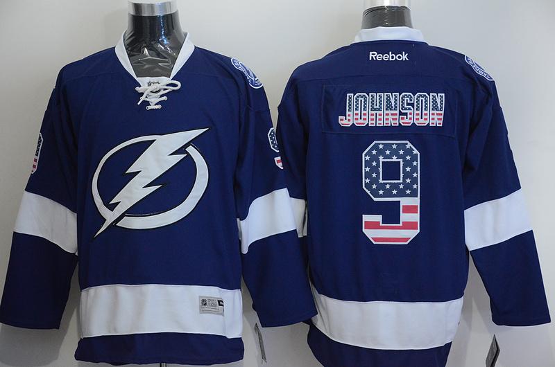 Lightning 9 Johnson Blue US Flag Reebok Jersey