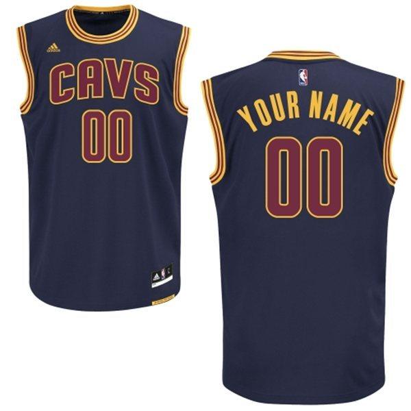 Cleveland Cavaliers Navy Men's Customize Swingman Jersey
