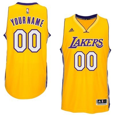 Los Angeles Lakers Yellow Men's Customize New Rev 30 Jersey