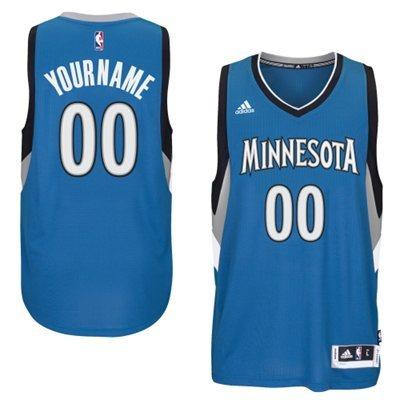 Minnesota Timberwolves Blue Men's Customize New Rev 30 Jersey