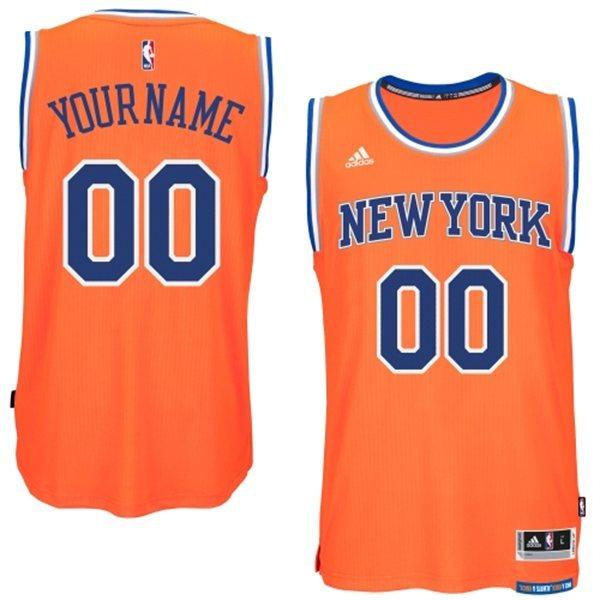 New York Knicks Orange Men's Customize New Rev 30 Jersey