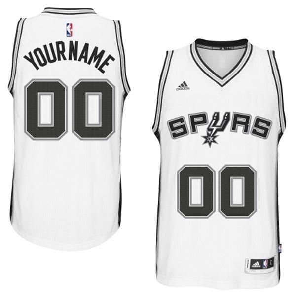 San Antonio Spurs White Men's Customize New Rev 30 Jersey