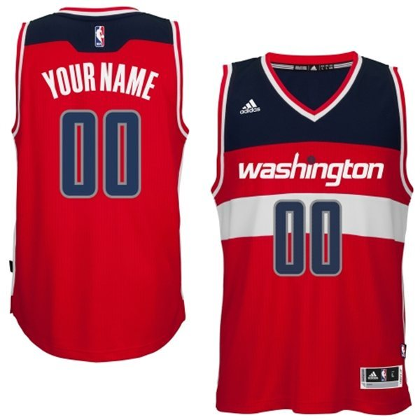 Washington Wizards Red Men's Customize New Rev 30 Jersey