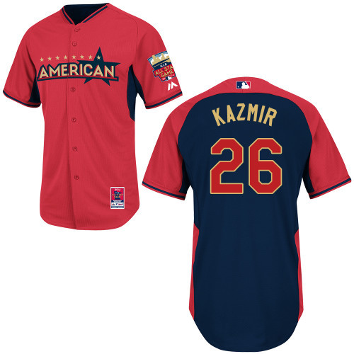 American League Rays 26 Kazmir Red 2014 All Star Jerseys