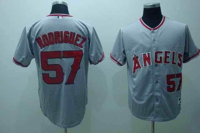 Angeles 57 Rodriguez Grey Jerseys