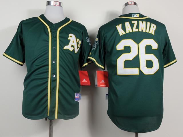 Athletics 26 Kazmir Green Cool Base Jerseys