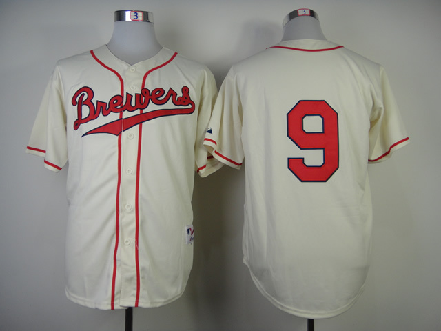 Brewers 9 Segura Cream 1948 Turn Back The Clock Jerseys