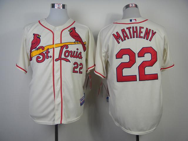 Cardinals 22 Matheny Cream Jerseys