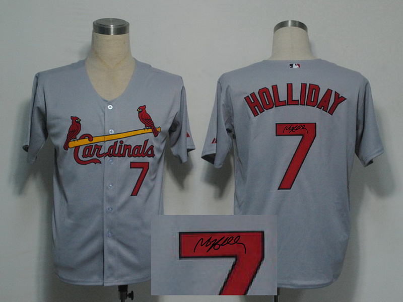 Cardinals 7 Holliday Grey Signature Edition Jerseys