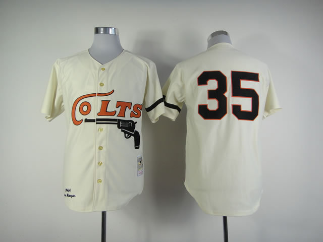 Colts 35 Joe Morgan Cream Jerseys