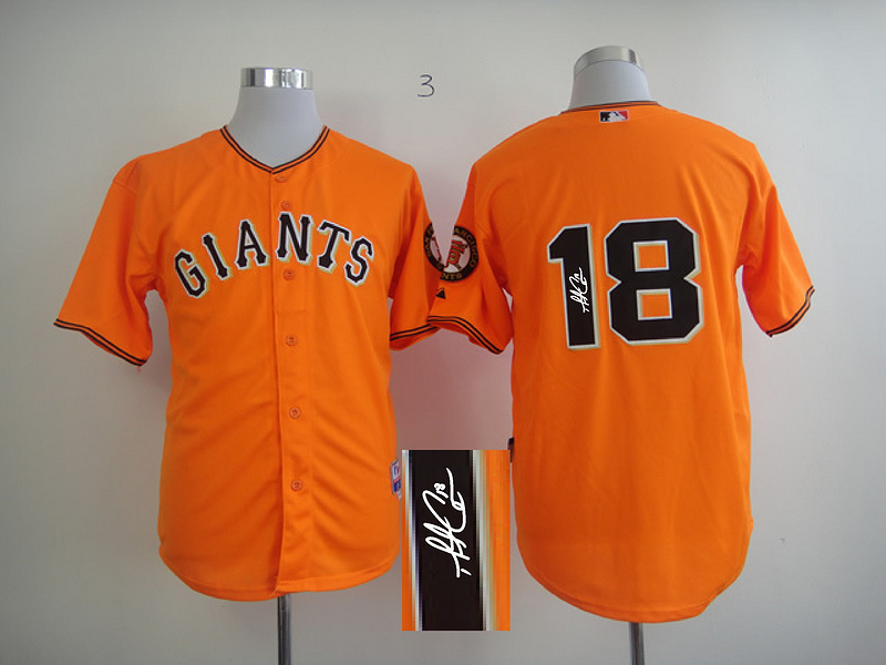Giants 18 Cain Orange Signature Edition Jerseys