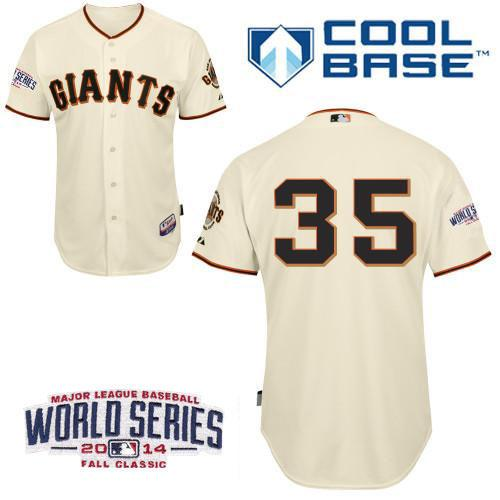 Giants 35 Crawford Cream 2014 World Series Cool Base Jerseys