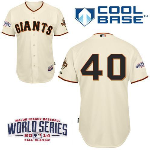 Giants 40 Cream Bumgarber 2014 World Series Cool Base Jerseys