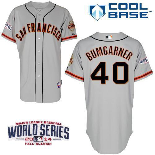 Giants 40 Grey Bumgarber 2014 World Series Cool Base Road Jerseys