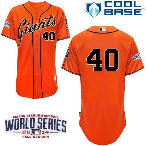 Giants 40 Orange Bumgarber 2014 World Series Cool Base Jerseys
