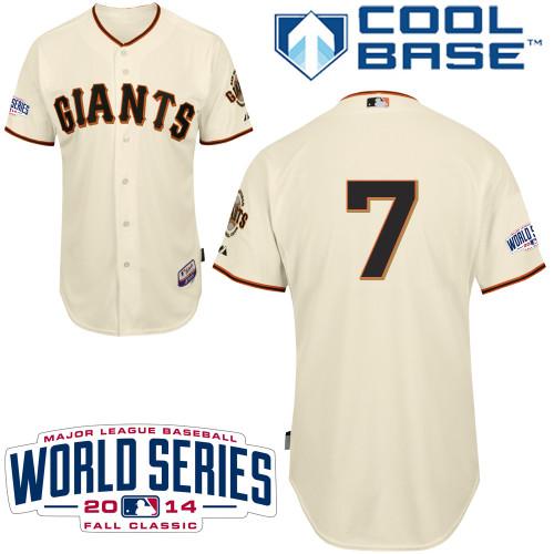 Giants 7 Blanco Cream 2014 World Series Cool Base Jerseys