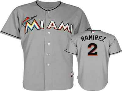 Marlins 2 RAMIREZ Gray jerseys