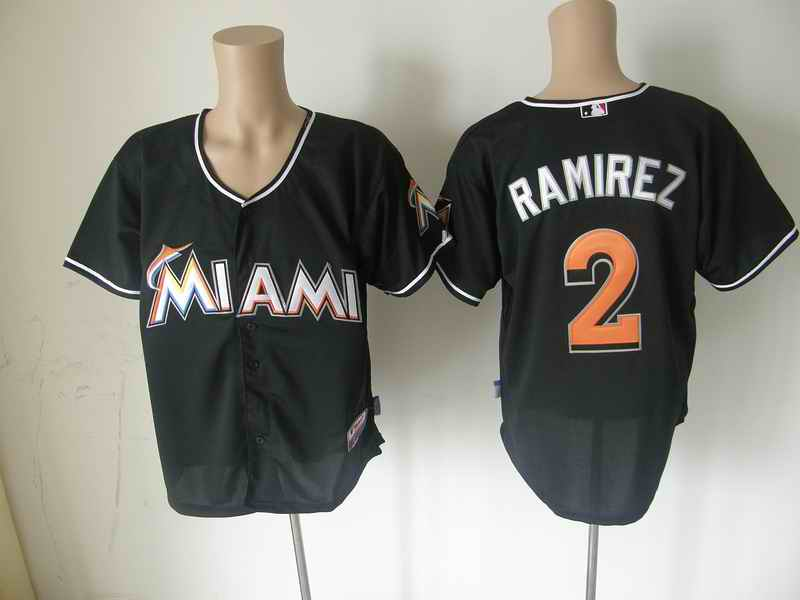 Marlins 2 RAMIREZ black jerseys