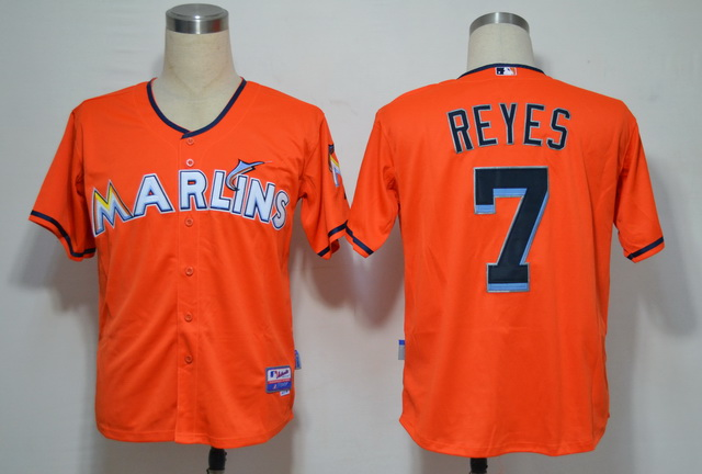 Miami Marlins 7 Jose Reyes Orange 2012 Jerseys