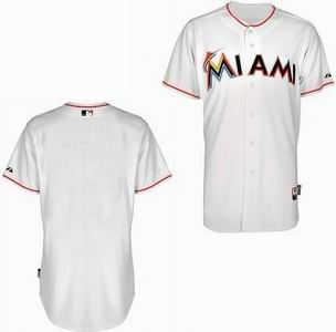 Miami Marlins blank white Cool Base Jerseys