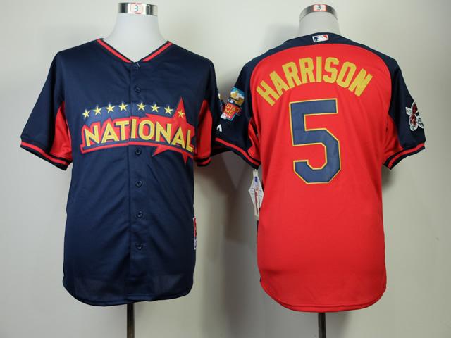National League 5 Harrison Blue 2014 All Star Jerseys