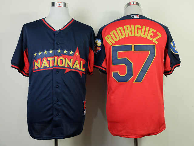 National League Angels 57 Rodriguez Blue 2014 All Star Jerseys