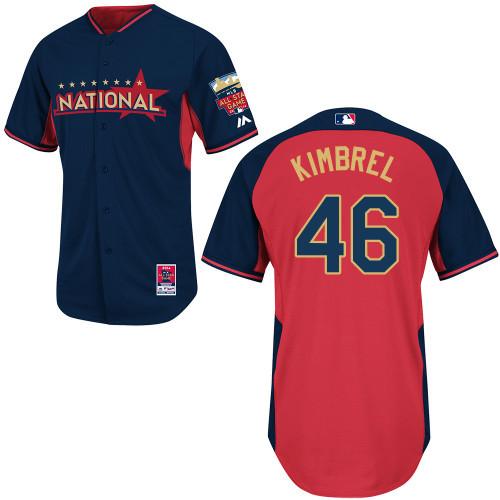 National League Braves 46 Kimbrel Blue 2014 All Star Jerseys