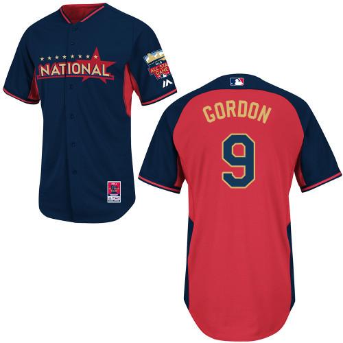 National League Dodgers 9 Gordon Blue 2014 All Star Jerseys