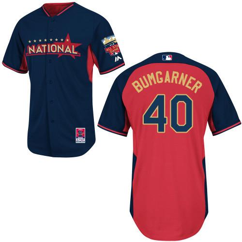 National League Giants 40 Bumgarner Blue 2014 All Star Jerseys