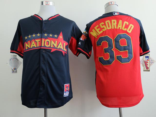 National League Reds 39 Mesoraco Blue 2014 All Star Jerseys