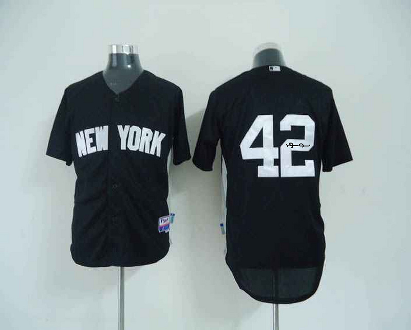 New York Yankees 42 Rivera Black Signature Edition Jerseys