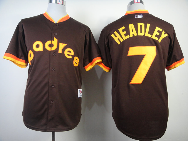 Padres 7 Headley Brown 1984 Turn The Clock Back Jerseys