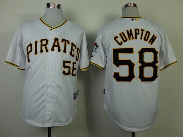 Pirate 25 Cumpton White Cool Base Jerseys