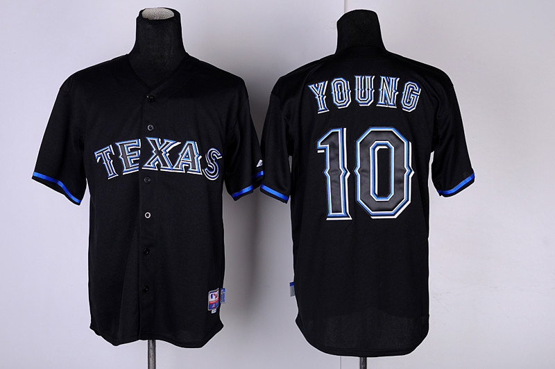 Rangers 10 Young black fashion Jerseys