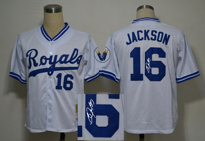 Royals 16 Jackson White Signature Edition Jerseys