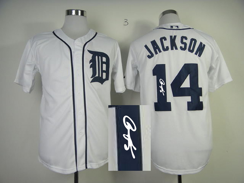 Tigers 14 Jackson White Signature Edition Jerseys