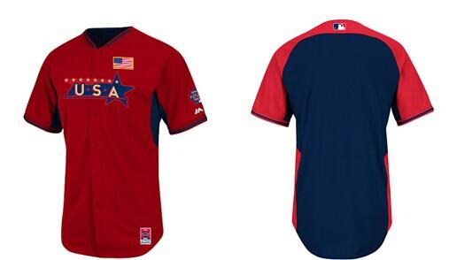 USA Blank 2014 Future Stars BP Jersey